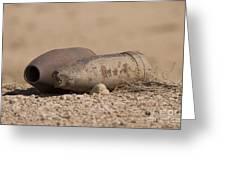 Inert Artillery Rounds Litter Camp Greeting Card