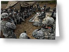 Infantrymen Receive Their Safety Brief Greeting Card