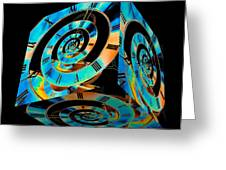 Infinity Time Cube On Black Greeting Card