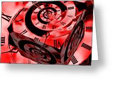 Infinity Time Cube Red Greeting Card