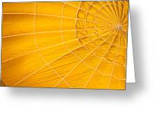Inflating Folds Of Yellow Greeting Card