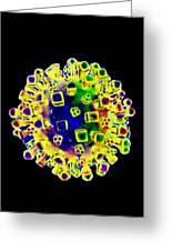 Influenza Virus, Artwork Greeting Card