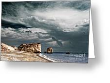 Infrared Aphrodite Rock Greeting Card