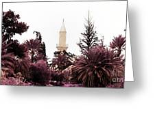 infrared Hala Sultan Tekke Greeting Card