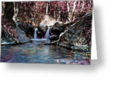 Infrared Waterfall Greeting Card