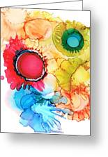 Ink Blossoms Greeting Card by Christine Crawford