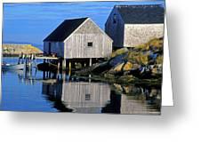 Inlet At Peggys Cove Nova Scotia Greeting Card