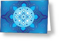 Inner Guidance - Blue Version Greeting Card