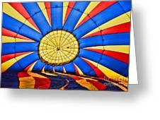 Inside A Hot Air Balloon Greeting Card