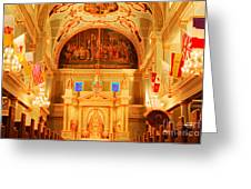 Inside St Louis Cathedral Jackson Square French Quarter New Orleans Accented Edges Digital Art Greeting Card