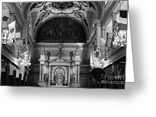 Inside St Louis Cathedral Jackson Square French Quarter New Orleans Black And White Greeting Card