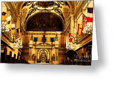Inside St Louis Cathedral Jackson Square French Quarter New Orleans Fresco Digital Art Greeting Card by Shawn O'Brien