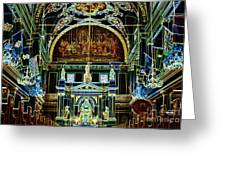 Inside St Louis Cathedral Jackson Square French Quarter New Orleans Glowing Edges Digital Art Greeting Card