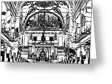 Inside St Louis Cathedral Jackson Square French Quarter New Orleans Stamp Digital Art Greeting Card by Shawn O'Brien