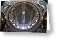 Inside St. Peter's Basicilia Greeting Card
