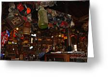 Inside The Bar In Luckenbach Tx Greeting Card