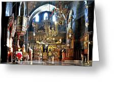 Inside The Church Greeting Card