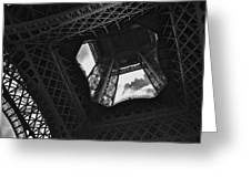 Inside The Eiffel Tower Greeting Card