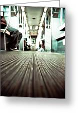 Inside The L At A Low Angle Greeting Card
