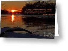 Inspirational Sunset With Quote Greeting Card