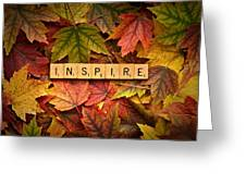 Inspire-autumn Greeting Card