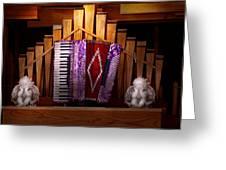 Instrument - Accordian - The Accordian Organ  Greeting Card