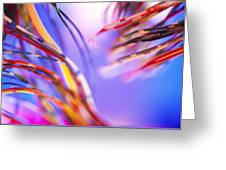 Insulated Electronic Wires Greeting Card by Chris Knapton