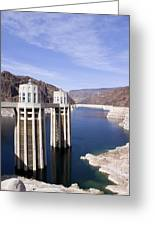 Intake Towers At Hoover Dam Greeting Card