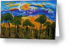 Intense Sky And Landscape Greeting Card