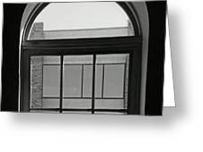 Interior - Windows In Black And White Greeting Card
