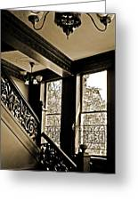 Interior Elegance Lost In Time Greeting Card by DigiArt Diaries by Vicky B Fuller