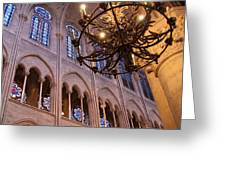Interior Notre Dame Cathedral Greeting Card