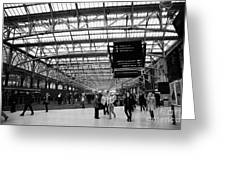 interior of central station Glasgow Scotland UK Greeting Card