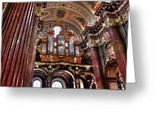 Interior St Stanislaus Church - Posnan Greeting Card