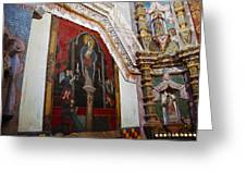 Interior Wall San Xavier Del Bac Mission Greeting Card
