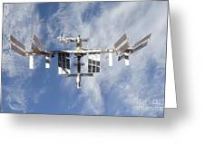 International Space Station Backdropped Greeting Card