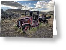 International Truck - Bannack Montana Ghost Town Greeting Card