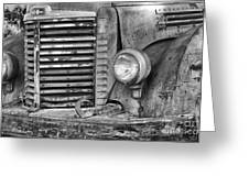 International Truck Black And White Greeting Card