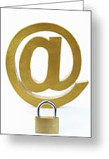 Internet Security Greeting Card by Sami Sarkis