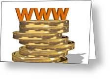 Internet Shopping, Conceptual Image Greeting Card