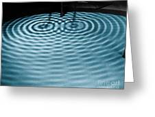 Intersecting Ripples Greeting Card