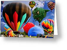 Into The Great Blue Sky - Hot Air Balloon Ride - Hot Air Balloons - Warren County Fair Greeting Card