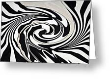 Intoxicated Zebra..... Greeting Card