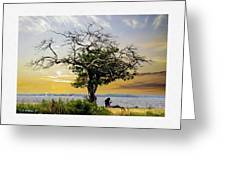 Introspective Oil Effect Greeting Card