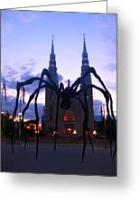 Invasion Of The Black Spider Greeting Card