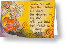 Invitation In Hand Greeting Card by Ilisa Millermoon