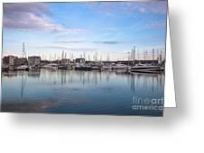 Ipswich Marina Dusk Greeting Card
