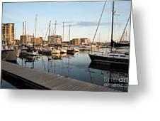 Ipswich Marina Sunset Greeting Card