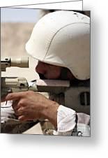Iraqi Army Sergeant Sights Greeting Card
