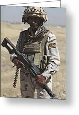 Iraqi Army Soldier Greeting Card